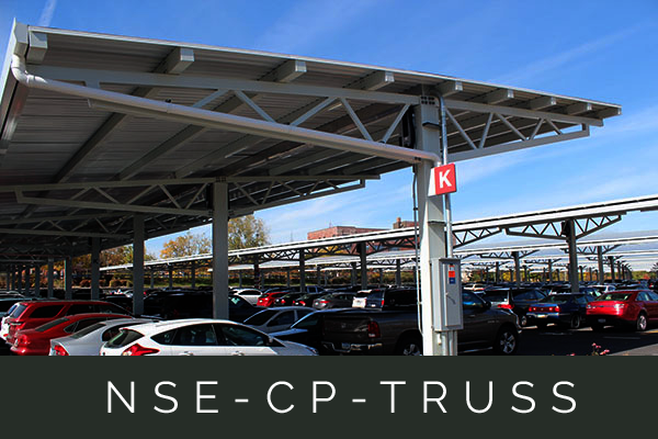 The aesthetic, webbed truss design provides stronger durability in higher wind/snow load regions.